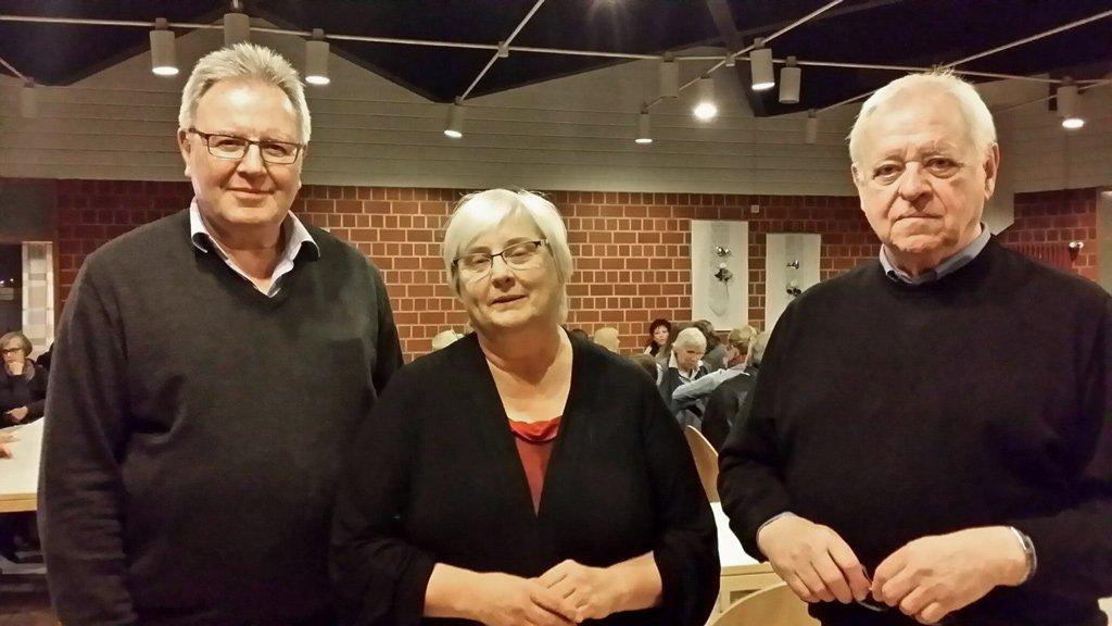 (v.l.n.r) Herr Dr. Reckinger, Frau Barbara Sonntag und Herr Prof. Hermann Steinkamp